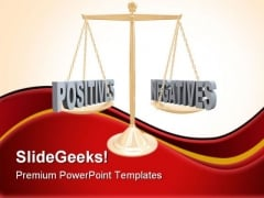 Positive And Negative Law PowerPoint Themes And PowerPoint Slides 0911