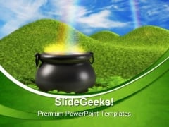 Pot Of Gold Business PowerPoint Themes And PowerPoint Slides 0511