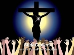 Power Of Jesus Christ Chruch PowerPoint Templates And PowerPoint Themes 0812