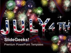 Ppt Slides July 4th American Independence PowerPoint Templates 0612