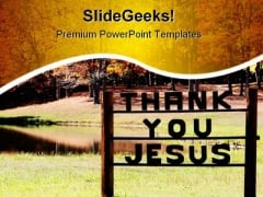 Praising God Religion PowerPoint Themes And PowerPoint Slides 0811