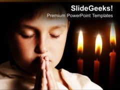 Pray Children PowerPoint Templates And PowerPoint Themes 0712