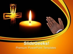 Prayer Candles Church PowerPoint Templates And PowerPoint Themes 0712