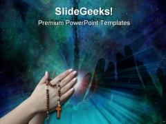 Prayer Religion PowerPoint Template 0610