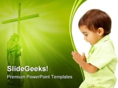 Prayer Religion PowerPoint Themes And PowerPoint Slides 0411