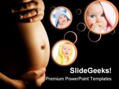 Pregnancy Concept Family PowerPoint Backgrounds And Templates 0111