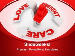 Present And Love Concept Metaphor PowerPoint Themes And PowerPoint Slides 0811