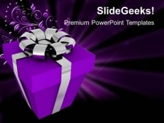 Present For Festival PowerPoint Templates And PowerPoint Themes 1012