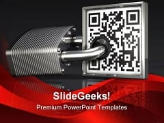 Private Code Security PowerPoint Templates And PowerPoint Backgrounds 0711