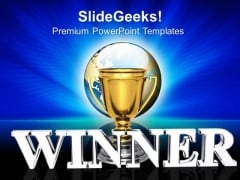 Prize Winner Competition PowerPoint Templates And PowerPoint Themes 0912