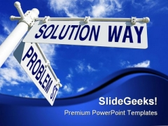 Problem And Solution Way Business PowerPoint Themes And PowerPoint Slides 0811