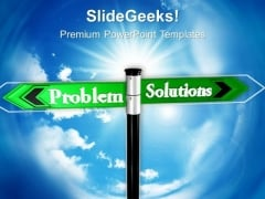 Problem Solution Business PowerPoint Templates And PowerPoint Themes 0612
