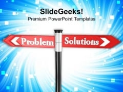 Problem Solution Street Signpost Goals PowerPoint Templates Ppt Backgrounds For Slides 0113
