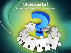Problems As Puzzles With Question Mark PowerPoint Templates Ppt Backgrounds For Slides 0313