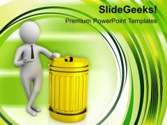 Process Of Recycling The Waste Materials PowerPoint Templates Ppt Backgrounds For Slides 0713