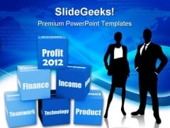 Profit2012 Blocks Business PowerPoint Templates And PowerPoint Backgrounds 1011
