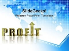 Profit Finance PowerPoint Backgrounds And Templates 1210