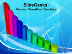 Profit Graph Cylinders PowerPoint Templates And PowerPoint Themes 0812
