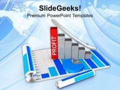 Profit In Business Using Progress Bars PowerPoint Templates Ppt Backgrounds For Slides 0413