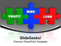 Profit Risk Loss Puzzles Business PowerPoint Templates Ppt Background For Slides 1112