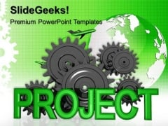 Project Gear With Cogs Industrial PowerPoint Templates And PowerPoint Themes 0512