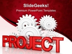 Project Gearwheels Industrial PowerPoint Templates And PowerPoint Themes 0512