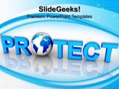 Protect Globe Security PowerPoint Templates And PowerPoint Themes 0812