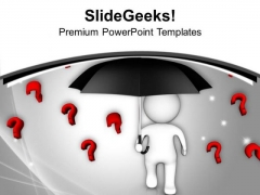 Protect Your Business From Questions PowerPoint Templates Ppt Backgrounds For Slides 0613