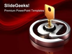 Protected Email Security PowerPoint Templates And PowerPoint Backgrounds 0211