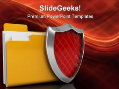 Protected Folder Security PowerPoint Templates And PowerPoint Backgrounds 0211