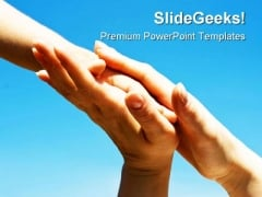 Protecting Hands Family PowerPoint Themes And PowerPoint Slides 0811
