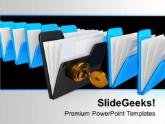 Protecting The Data Folder Security PowerPoint Templates Ppt Backgrounds For Slides 0113