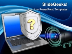Protection Question Security PowerPoint Templates And PowerPoint Backgrounds 0211