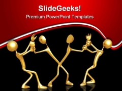Pulled Apart Metaphor PowerPoint Themes And PowerPoint Slides 0811