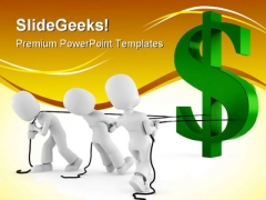 Pulling The Dollar Finance PowerPoint Themes And PowerPoint Slides 0311