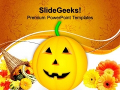 Pumpkin Autumn Nature PowerPoint Templates And PowerPoint Themes 0812