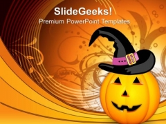 Pumpkin Evil Festival PowerPoint Templates And PowerPoint Themes 0812