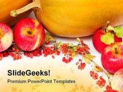 Pumpkins And Apples Halloween Festival PowerPoint Themes And PowerPoint Slides 0411