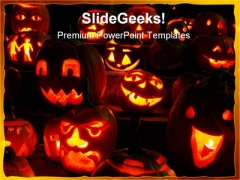 Pumpkins Halloween Festival PowerPoint Templates And PowerPoint Backgrounds 0411
