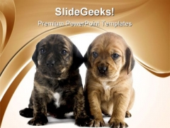Puppy Brothers Animals PowerPoint Themes And PowerPoint Slides 0711