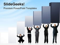 Pushing Graph Up Business PowerPoint Templates And PowerPoint Backgrounds 0811