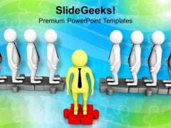 Put A Step Forward PowerPoint Templates Ppt Backgrounds For Slides 0713