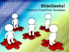 Put All Parts Togather Of Solution PowerPoint Templates Ppt Backgrounds For Slides 0613