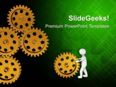 Put Right Gear To Move The Process PowerPoint Templates Ppt Backgrounds For Slides 0613