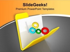 Put Right Gears For Data Security PowerPoint Templates Ppt Backgrounds For Slides 0713
