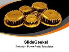 Put Right Gears In Process Flow PowerPoint Templates Ppt Backgrounds For Slides 0713