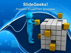 Put The Right Cube In Right Place PowerPoint Templates Ppt Backgrounds For Slides 0713