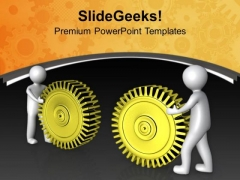 Put Your All Efforts For Gear Process PowerPoint Templates Ppt Backgrounds For Slides 0713