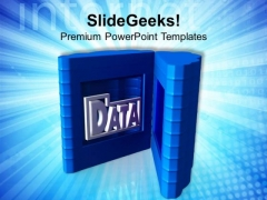 Put Your Data In Secure Place PowerPoint Templates Ppt Backgrounds For Slides 0613