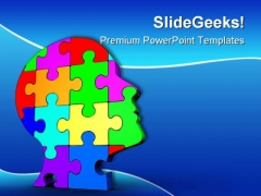 Puzzle Head Business PowerPoint Backgrounds And Templates 0111